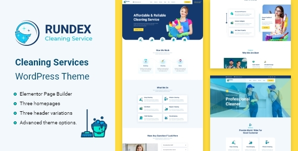 Rundex – Cleaning Services WordPress Theme