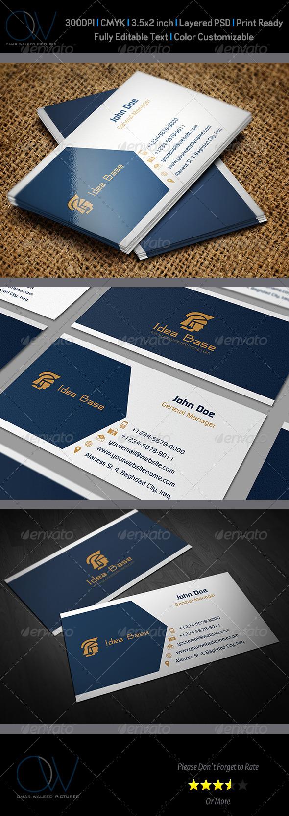 Idea Base Business Card - Corporate Business Cards
