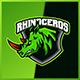 Rhinoceros - Mascot Esport Logo Template