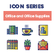 75 Office and Office Supplies Icons   Smooth Series