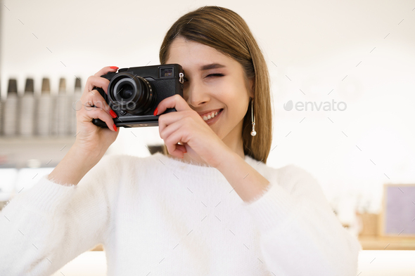 Photography, people and technology concept - Stock Photo - Images