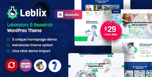 Leblix – Laboratory & Research WordPress Theme