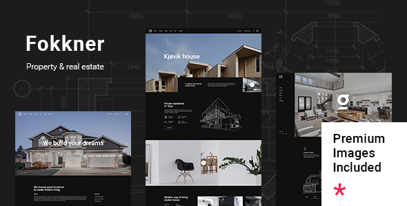 Download Fokkner – Real Estate and Property Theme Free Nulled