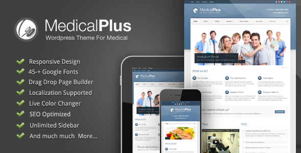 Medical Plus – Responsive Medical and Health Theme