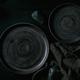 Empty black ceramic plates with black stones - PhotoDune Item for Sale