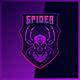 Black Widow Spider Skull - Mascot Esport Logo Template