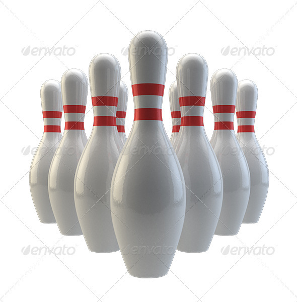 Bowling Pins - Objects 3D Renders