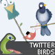 Funny Twitter Birds - GraphicRiver Item for Sale