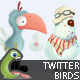 Funny Twitter Birds 2 - GraphicRiver Item for Sale