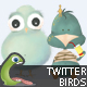 Funny Twitter Birds 3 - GraphicRiver Item for Sale