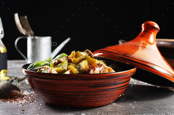 stew meat with vegetables - Stock Photo - Images