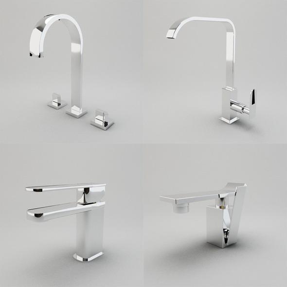 Faucet Collection Vol.1 - 3DOcean Item for Sale