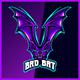 Flying V Bats - Mascot Esport Logo Template