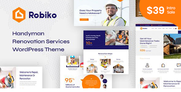 Robiko – Handyman Renovation Services WordPress
