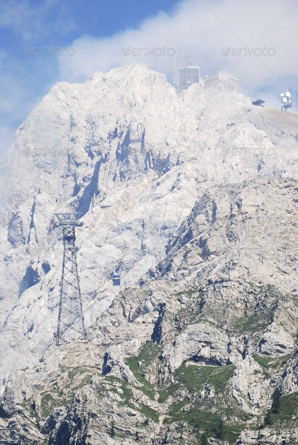 Mount Zugspitze - Stock Photo - Images