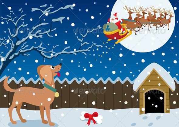 Winter Scene - Christmas Seasons/Holidays