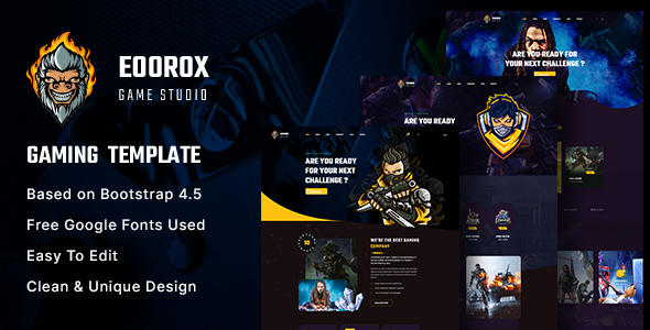 Wondrous Eoorox - Gaming and eSports HTML5 Template