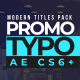 Promo Typography - VideoHive Item for Sale