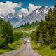Highway in Grand Teton National Park - PhotoDune Item for Sale