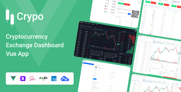 Crypo - Cryptocurrency Exchange Dashboard Vue App