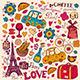 Set of Paris symbols - GraphicRiver Item for Sale