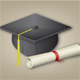 Graduation Cap with Diploma - GraphicRiver Item for Sale