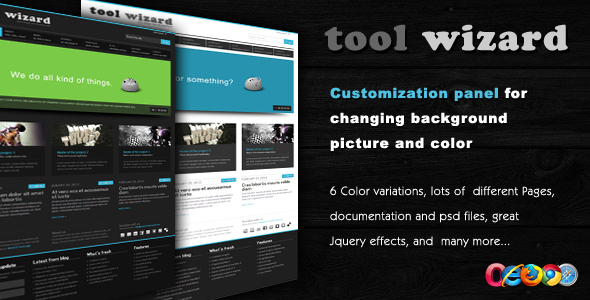 Tool Wizard 2 in 1 – Portfolio/Business template