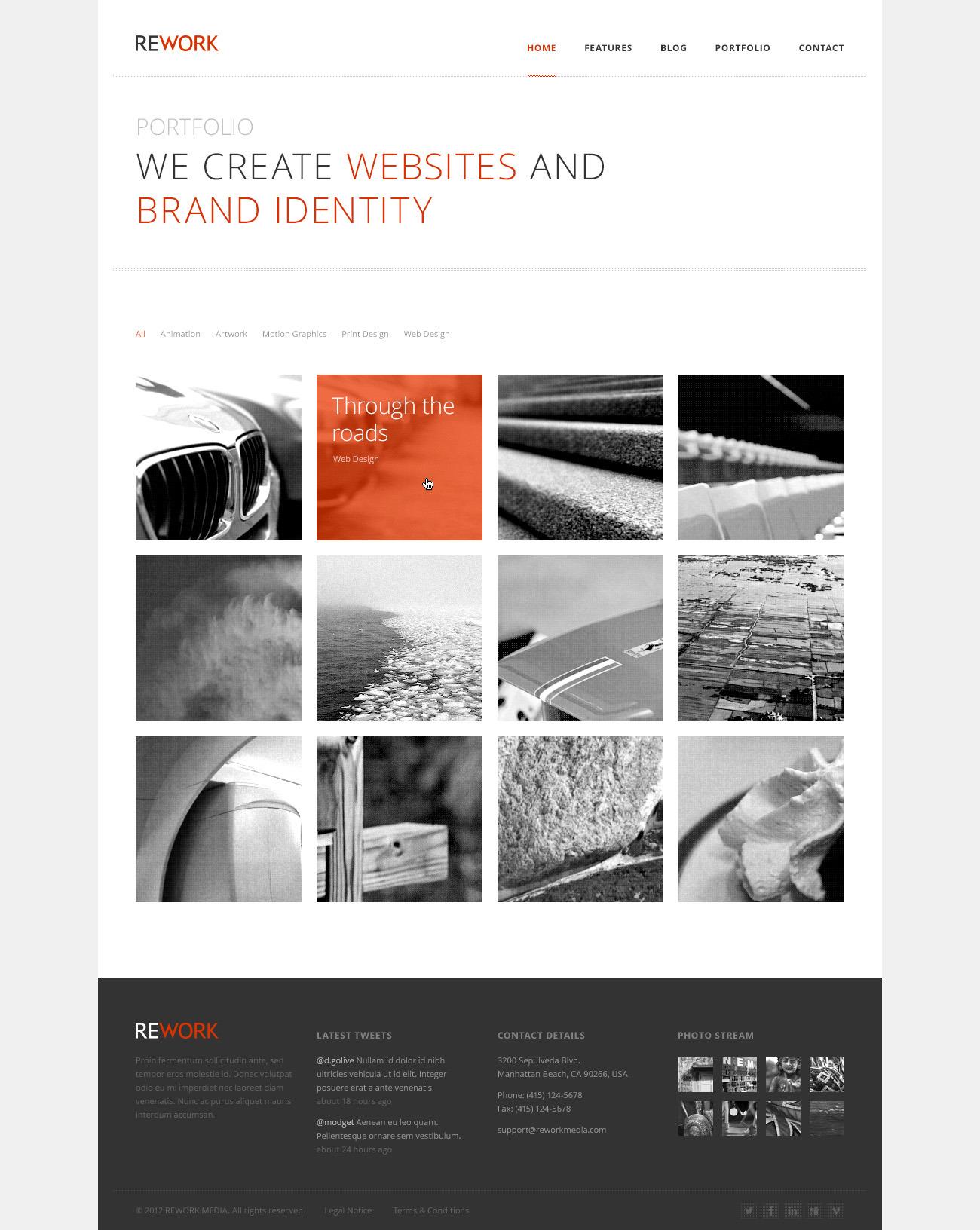 REWORK - Responsive HTML5/CSS3 Template by Mird | ThemeForest