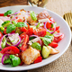 Tuscan Panzanella, traditional Italian salad with tomatoes and bread - PhotoDune Item for Sale