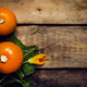 Autumn wooden background with pumpkins and leaves, top view, toned image with copy space - PhotoDune Item for Sale