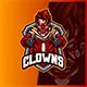 Sniper Clown - Mascot Esport Logo Template