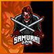 Creepy Clown Samurai - Mascot Esport Logo Template