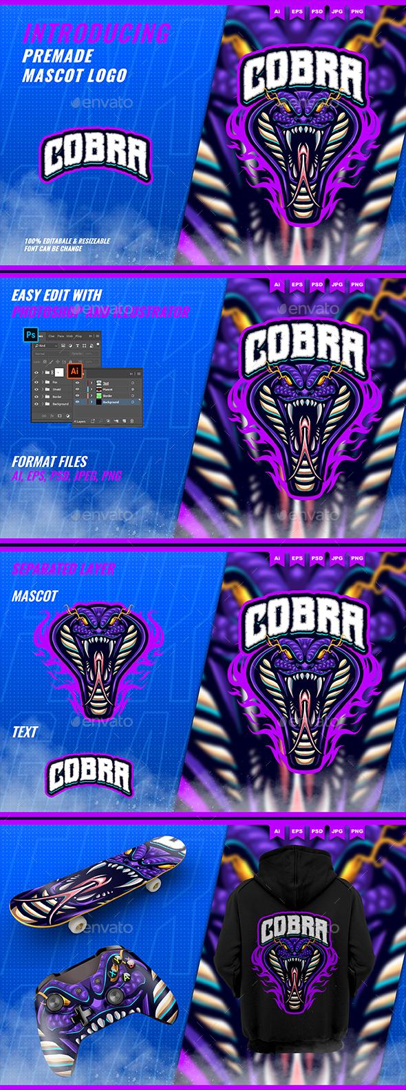 Cobra snake monster - Mascot Esport Logo Template