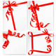 Set of holiday background with red gift bow with r - GraphicRiver Item for Sale