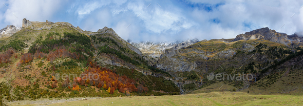 Pineta Valley in Ordesa and Monte Perdido National Park, Spain - Stock Photo - Images