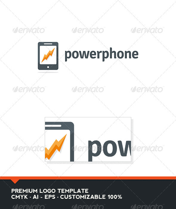 Power Phone Logo Template - Objects Logo Templates