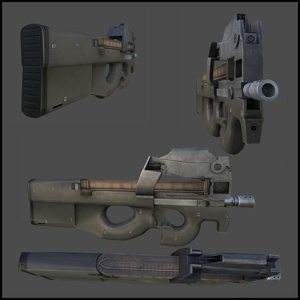 FN P90 - 3DOcean Item for Sale