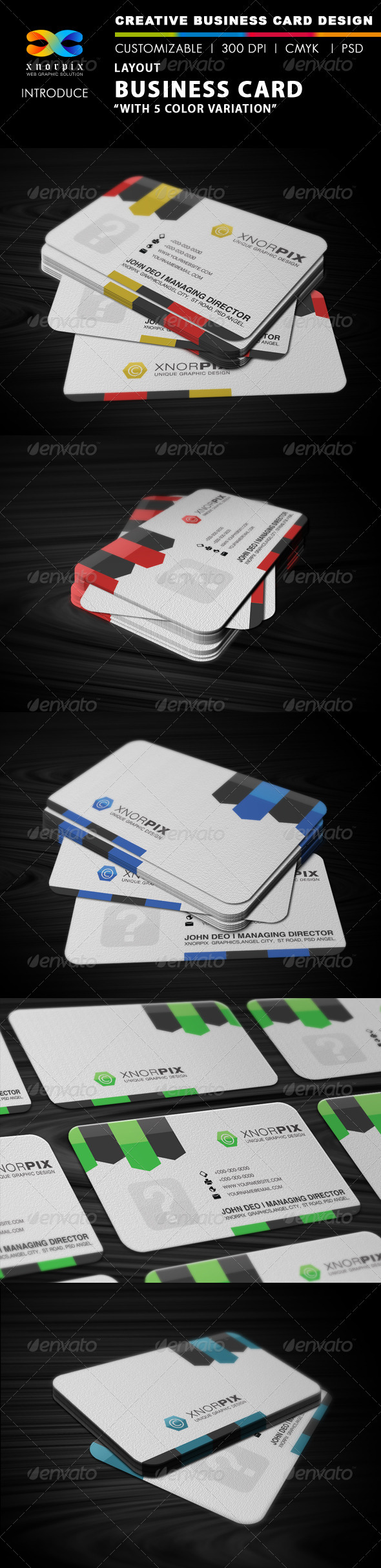 Layout Business Card - Corporate Business Cards