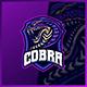 Cobra Jormungan monster - Mascot Esport Logo Template