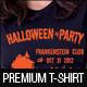Halloween Party T-Shirt Template