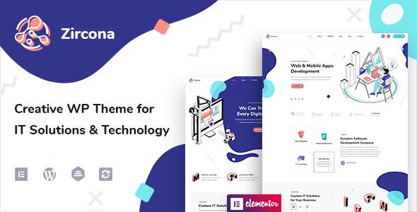 Exceptional Zircona - IT Solutions & Technology WordPress Theme