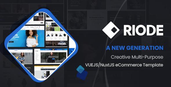 Riode - VueJS/NuxtJS eCommerce Template