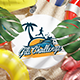 Beach Tropical Logo Reveal 3D - VideoHive Item for Sale