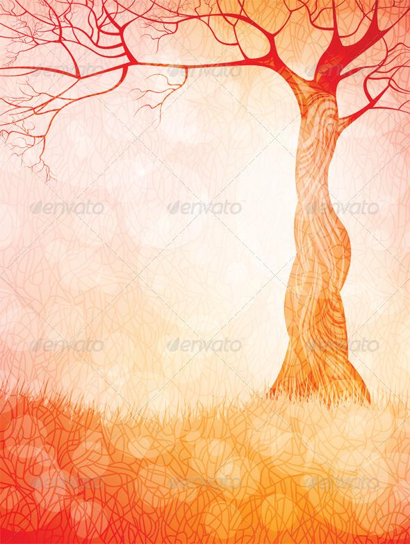 Creative landscape vector background - Landscapes Nature