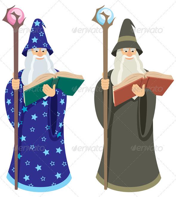 Wizard - Characters Vectors