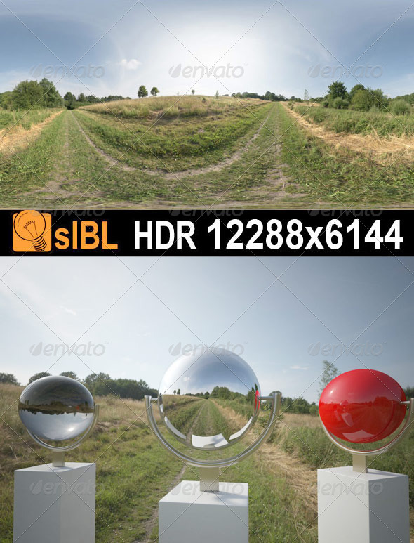 HDR 066 Grass Field sIBL - 3DOcean Item for Sale