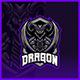 Black Dragon - Mascot Esport Logo Template