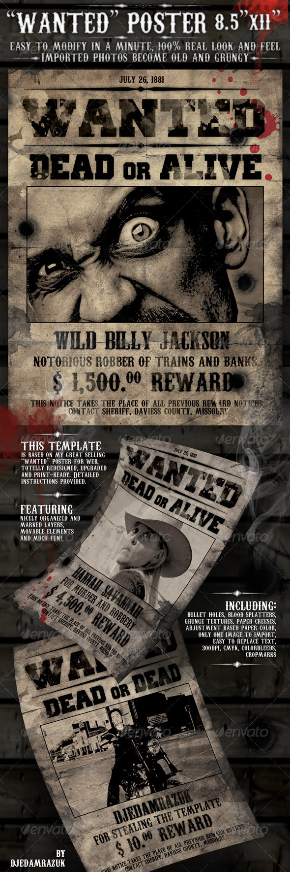 "8.5x11 Poster ""Wanted"" - Clubs & Parties Events"