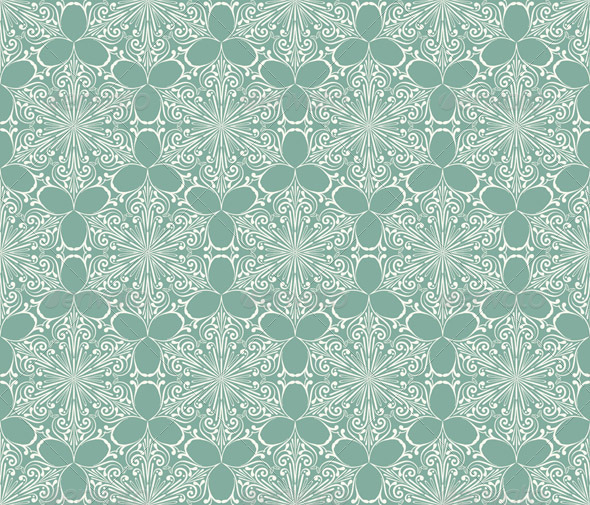 Vector Seamless Lacy Winter Pattern with Snowflake - Patterns Decorative
