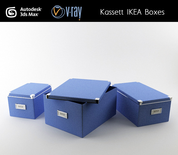 Kassett IKEA boxes - 3DOcean Item for Sale